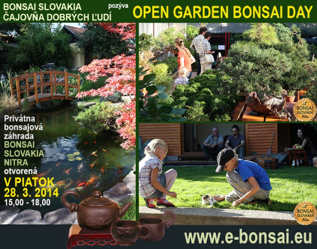 open garden bonsai day